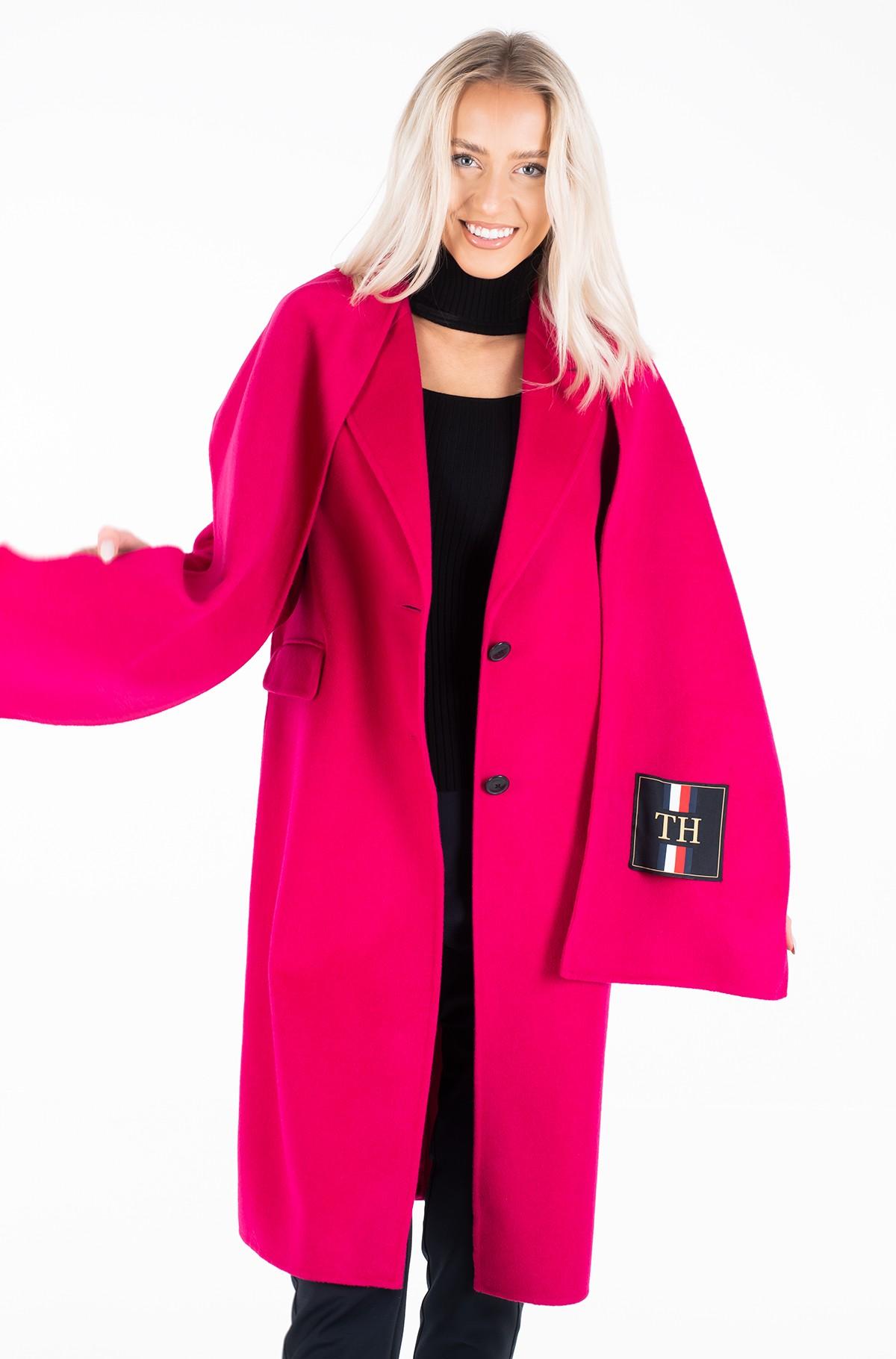Wool coat BIANCA DF SCARF COAT-full-1