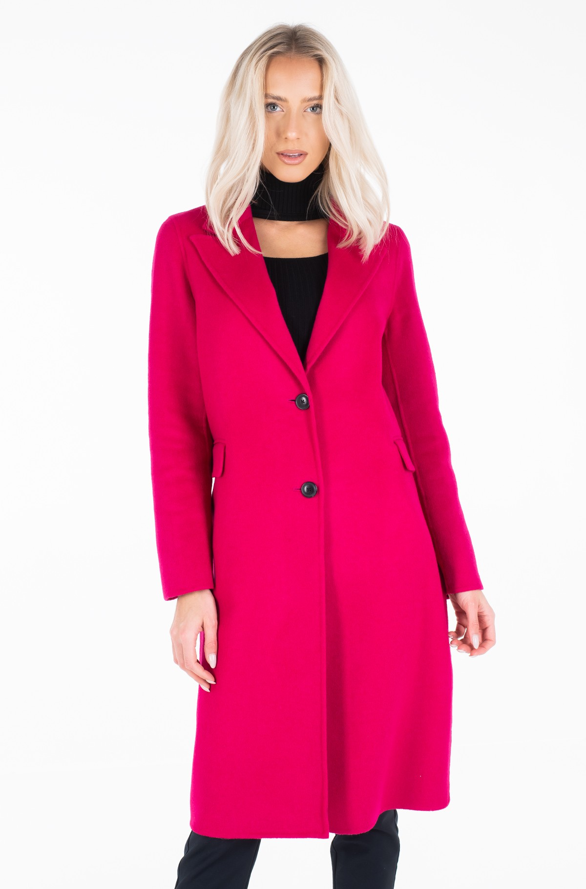 Wool coat BIANCA DF SCARF COAT-full-2