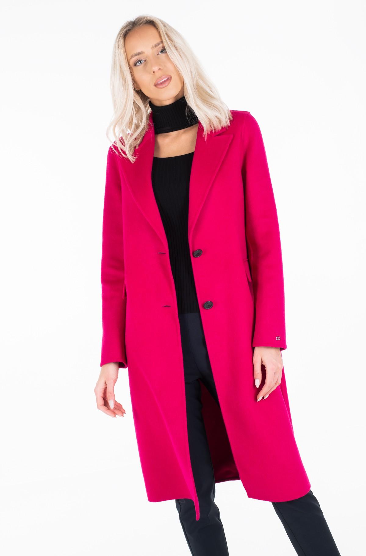 Wool coat BIANCA DF SCARF COAT-full-4