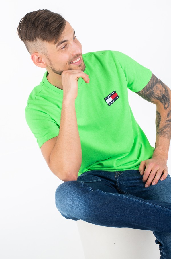 TJM TOMMY BADGE NEON TEE