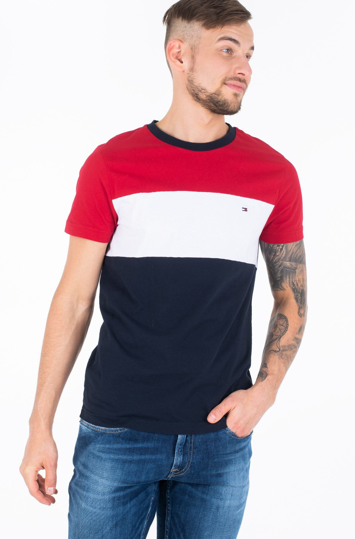 T-shirt COLOUR BLOCK TEE-full-2