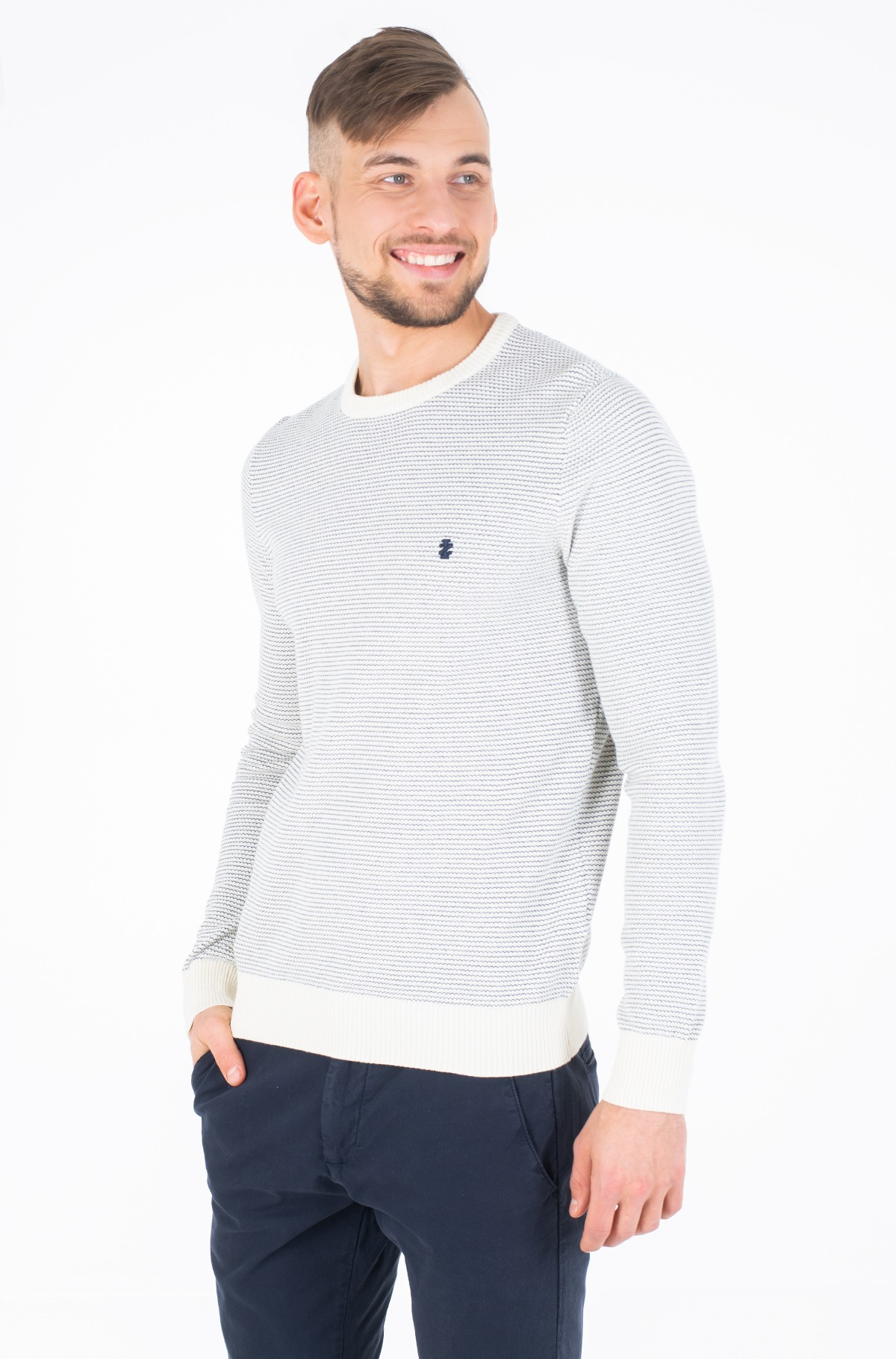 Džemperis JACQUARD CREW NECK SWEATER-full-1