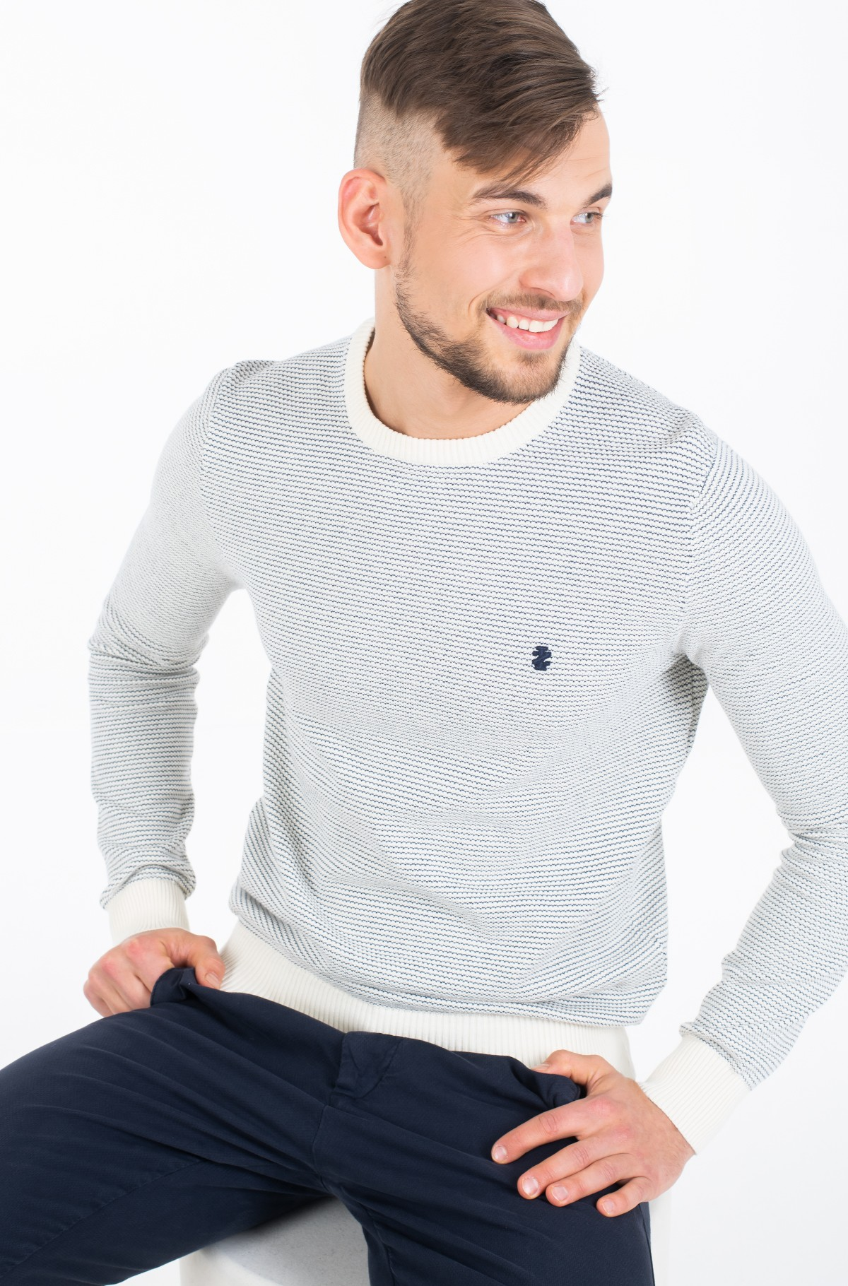 Džemperis JACQUARD CREW NECK SWEATER-full-2