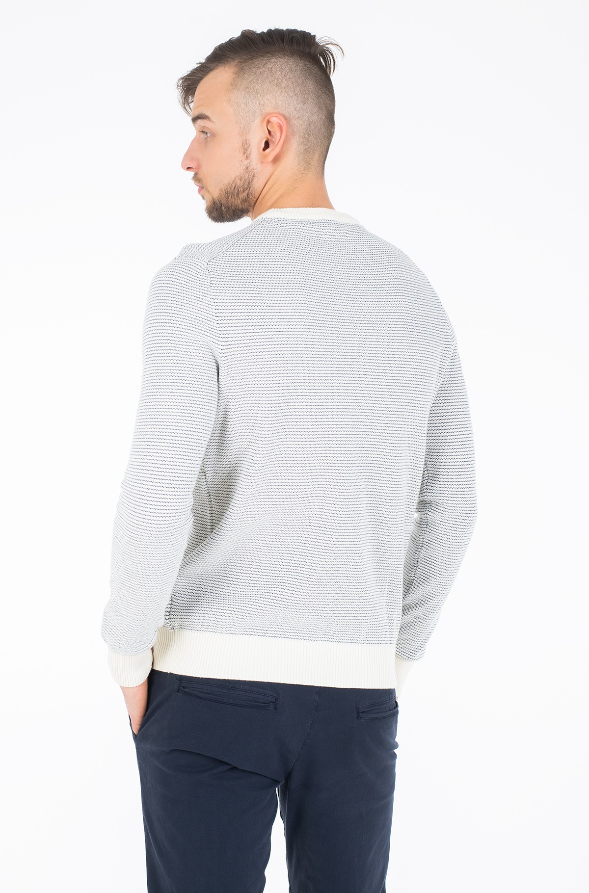 Džemperis JACQUARD CREW NECK SWEATER-full-3