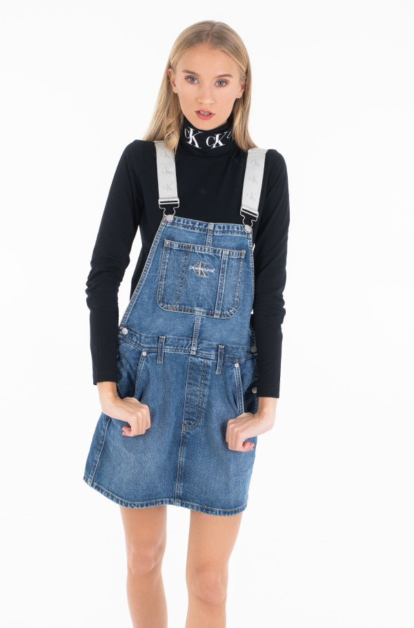 ICONICS DUNGAREE DRESS-hover