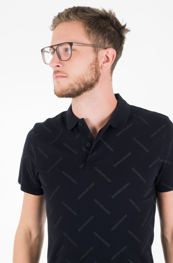 INSTITUTIONAL AOP SLIM POLO