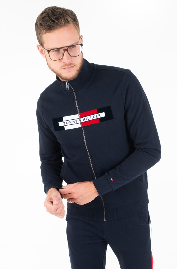 FLOCKED HILFIGER ZIP THROUGH