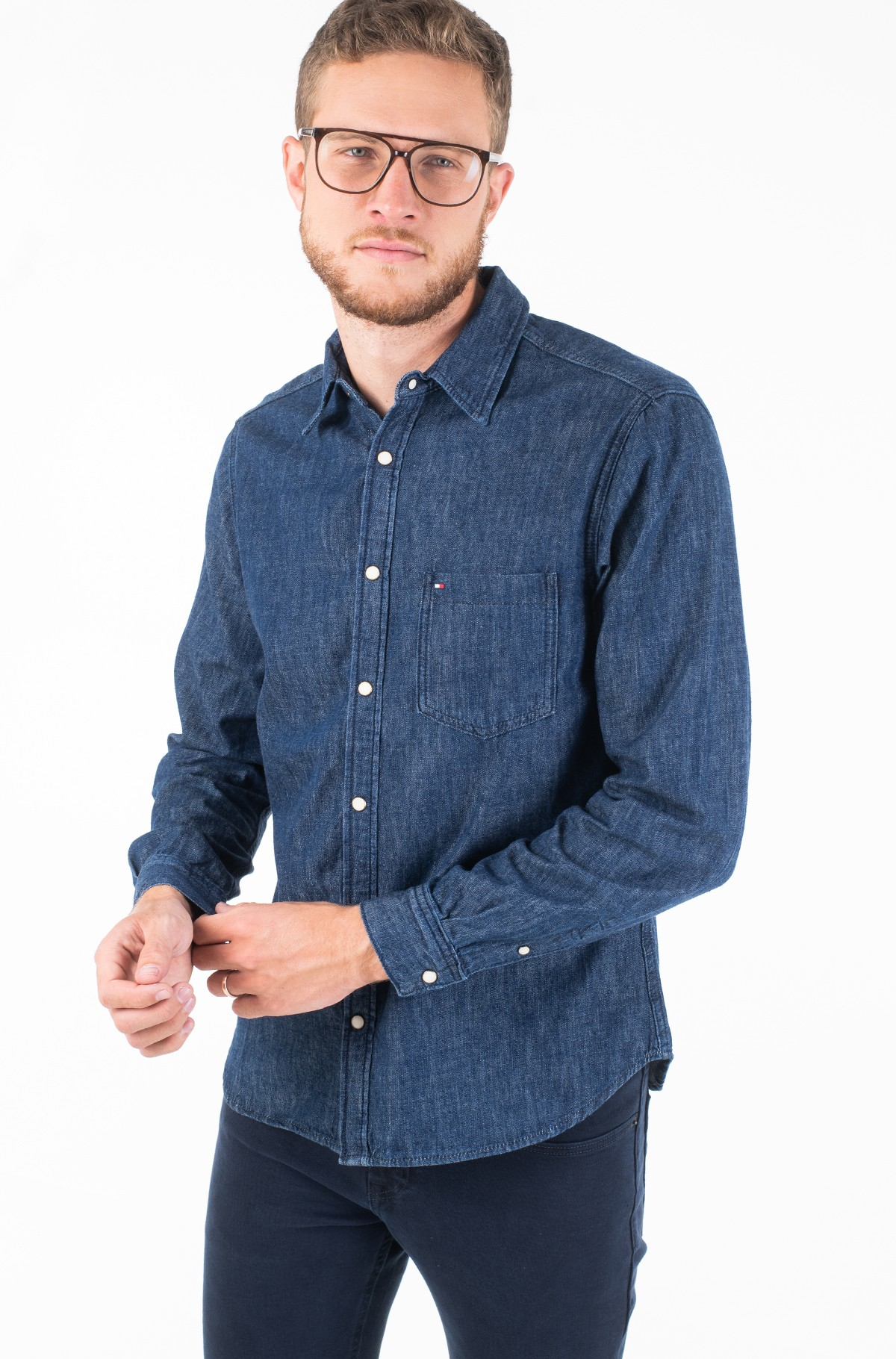 Denim shirt  DENIM SHIRT RGD DOZIER BLUE-full-1