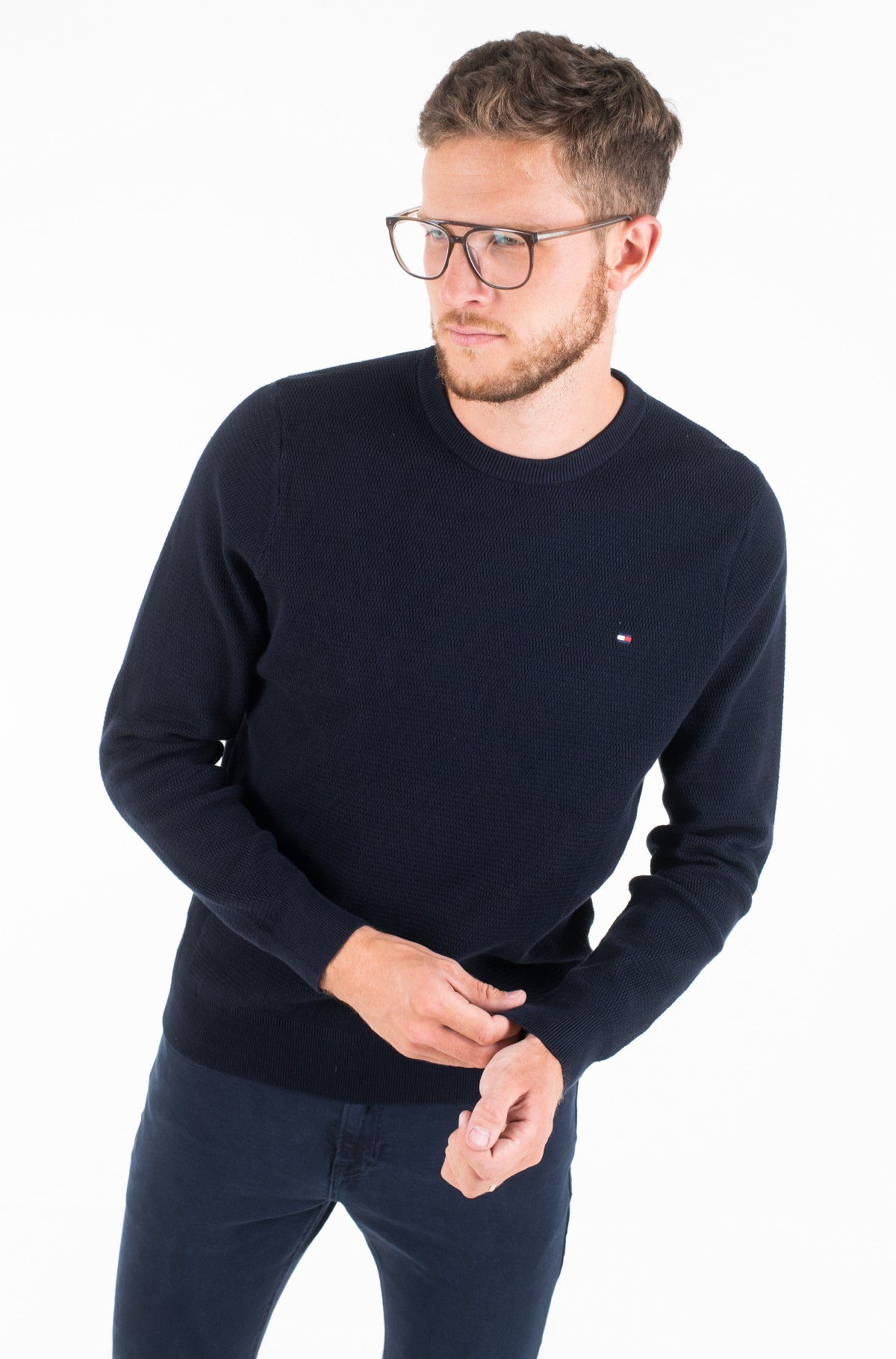 Sviiter STRUCTURED COTTON CREW NECK-full-2