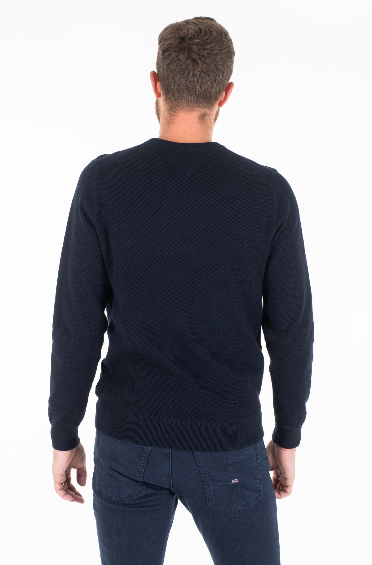 Sviiter STRUCTURED COTTON CREW NECK-full-3