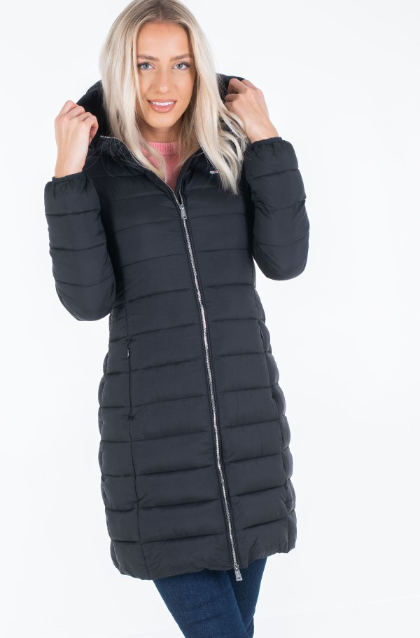 TJW BASIC QUILTED HOODED COAT-hover