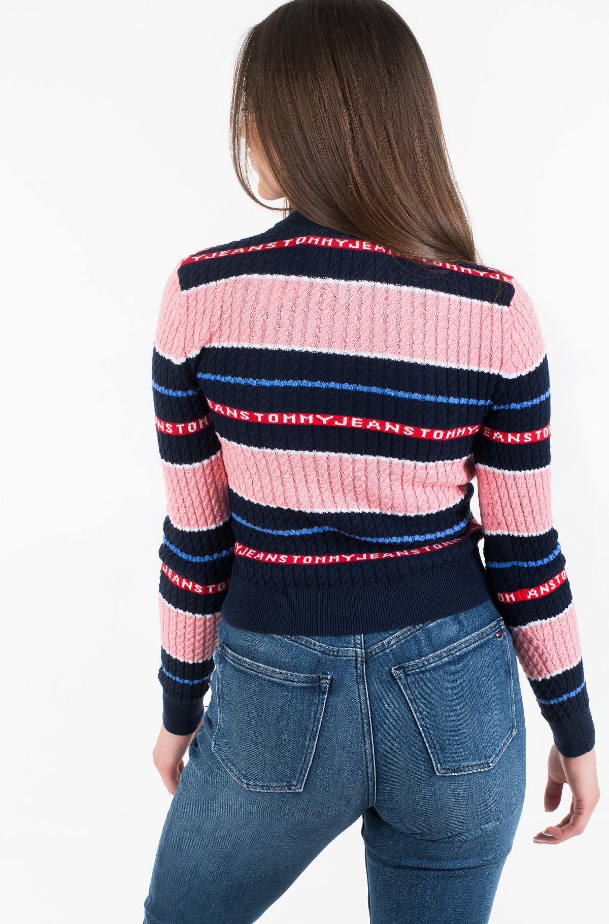 Sweater TJW LOGO STRIPE CABLE SWEATER-full-4