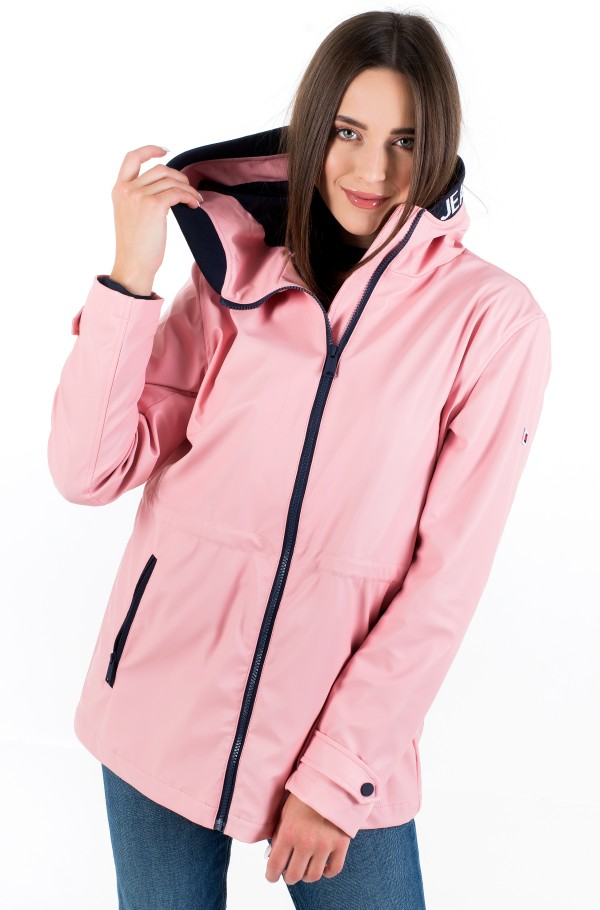 TJW TAPE DETAIL RAIN COAT