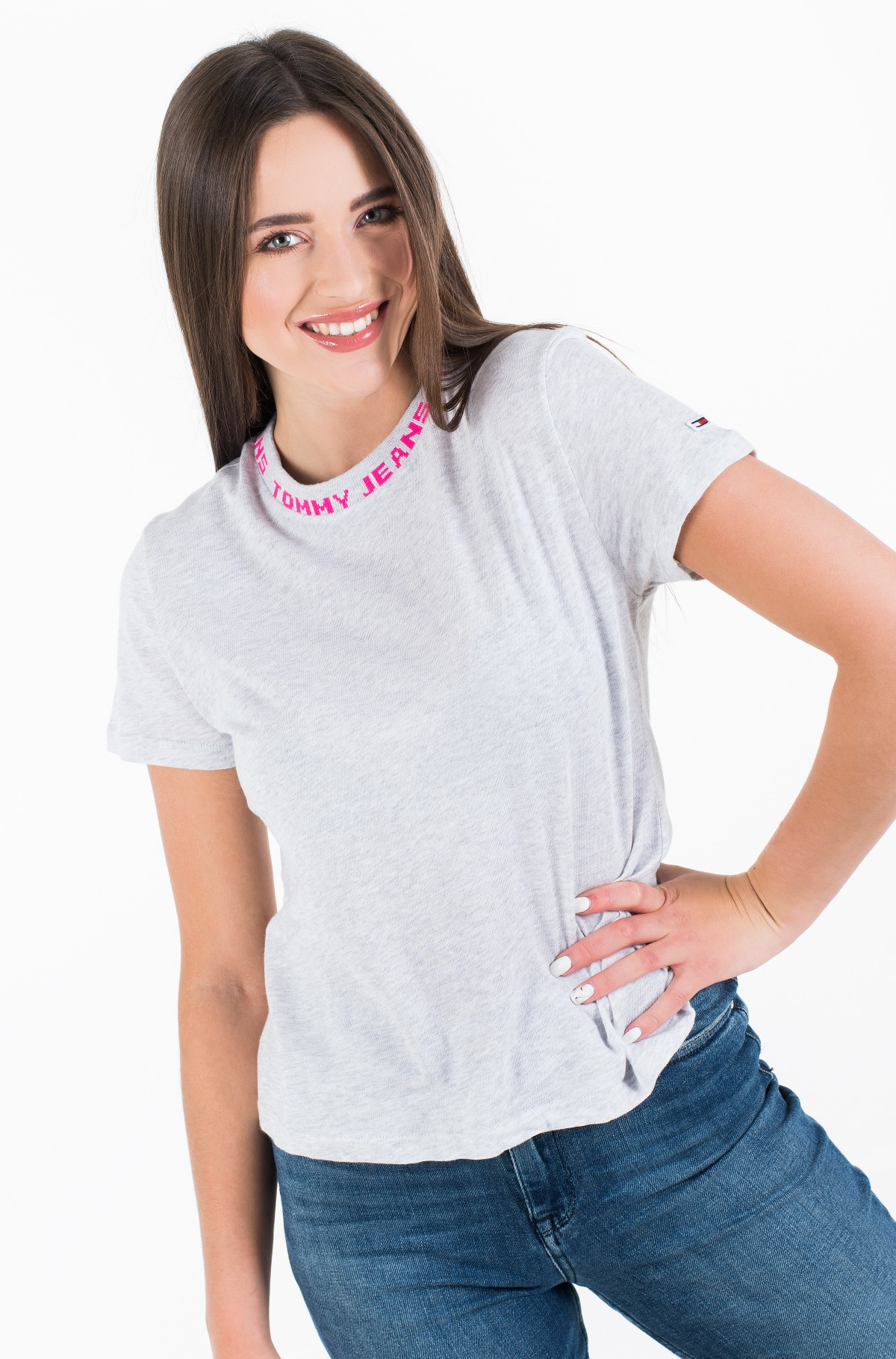 Marškinėliai TJW BRANDED NECK TEE-full-2