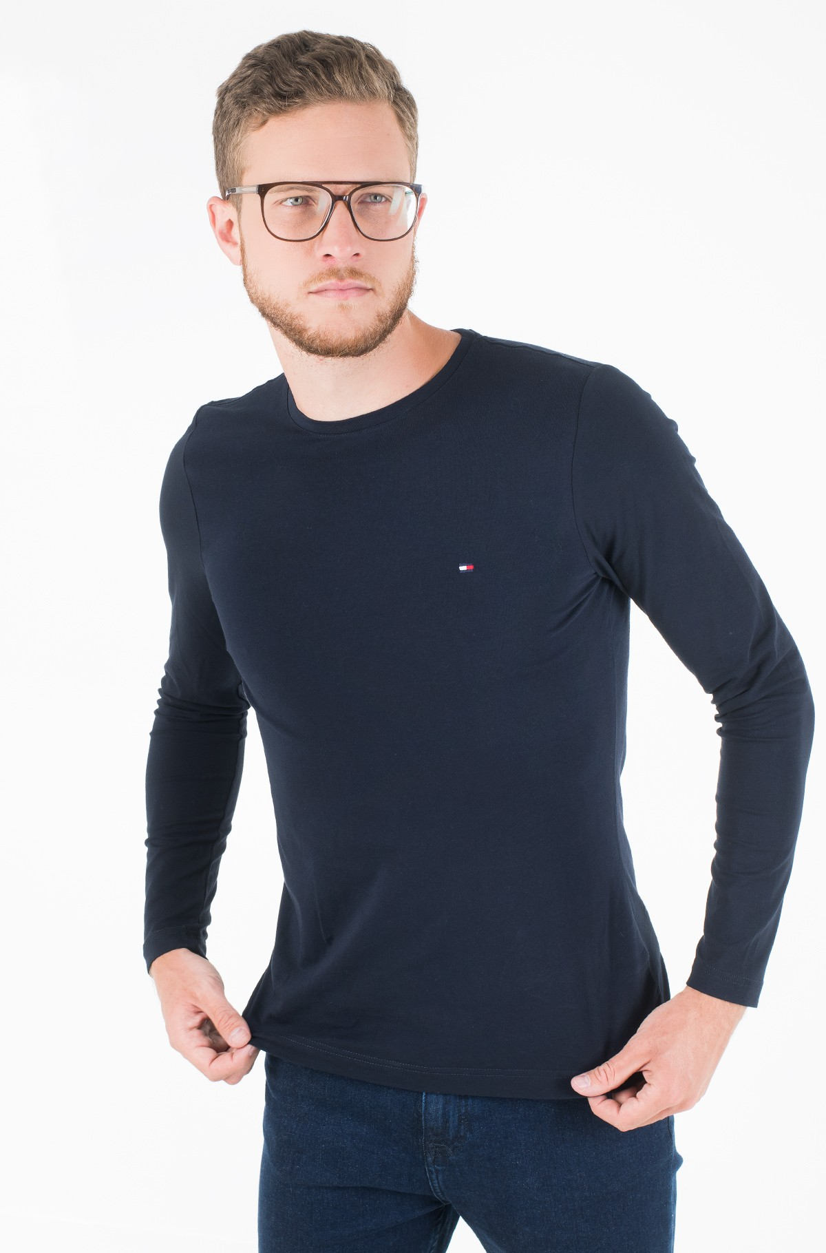 Pikkade käistega t-särk STRETCH SLIM FIT LONG SLEEVE TEE-full-1