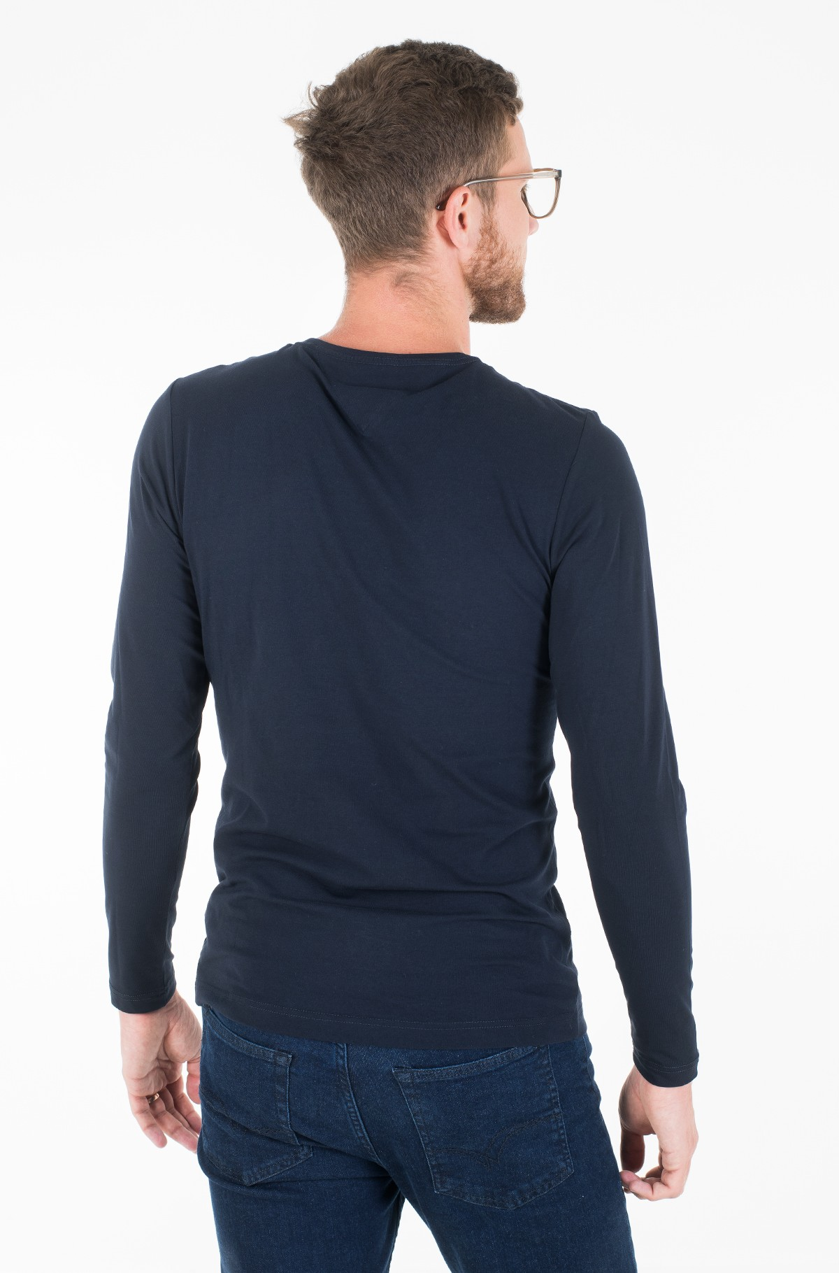 Pikkade käistega t-särk STRETCH SLIM FIT LONG SLEEVE TEE-full-2