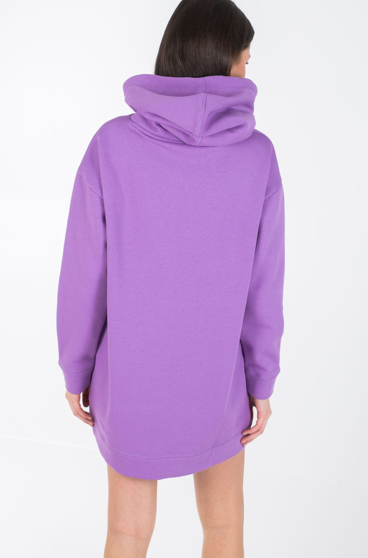 Dress TH ESS HOODED DRESS LS-full-3