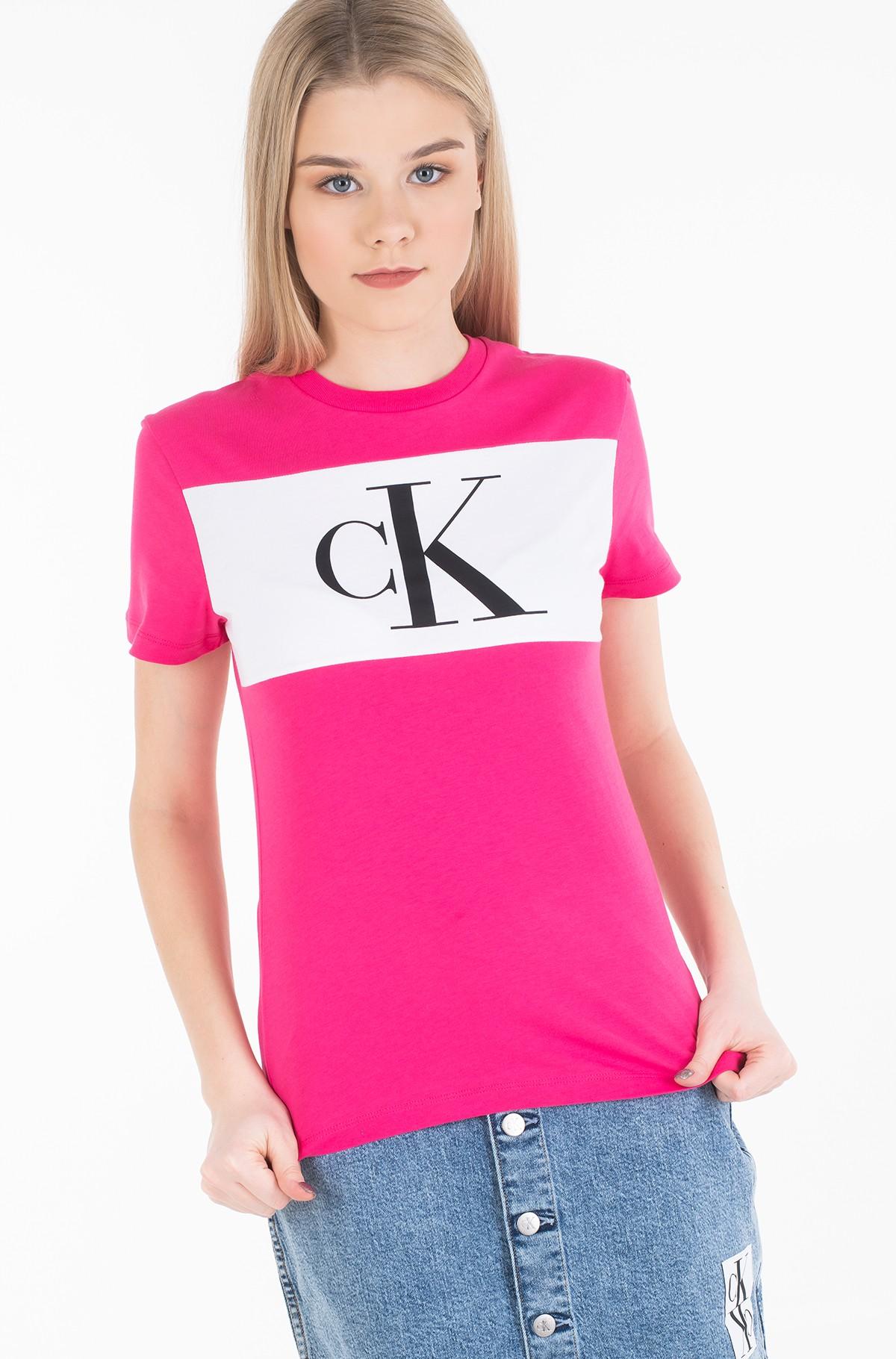 Marškinėliai BLOCKING MONOGRAM CK TEE-full-1