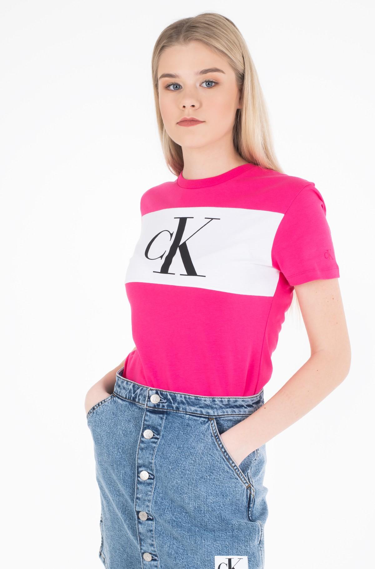 Marškinėliai BLOCKING MONOGRAM CK TEE-full-2