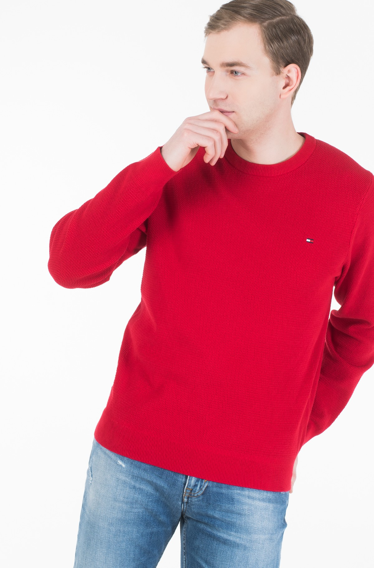 Sviiter STRUCTURED COTTON CREW NECK-full-1