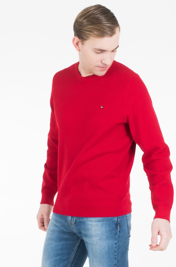 STRUCTURED COTTON CREW NECK-hover