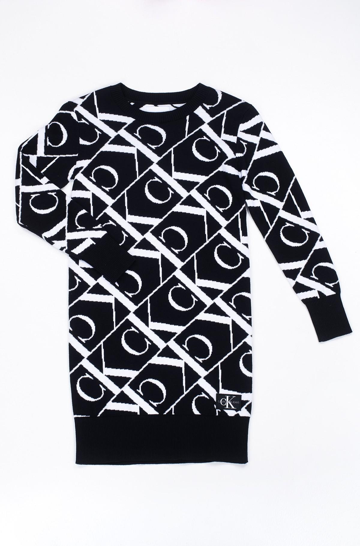 Dress MONOGRAM JACQUARD SWEATER DRESS-full-1