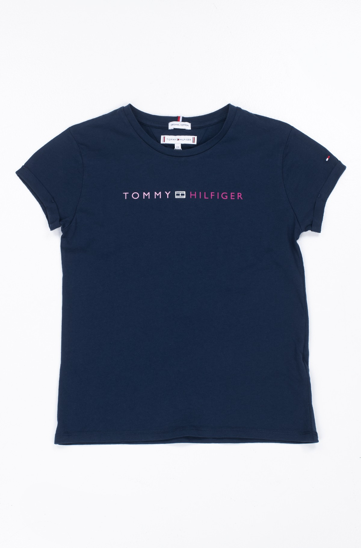 Kids t-shirt ESSENTIAL TOMMY ROLL UP TEE S/S-full-1