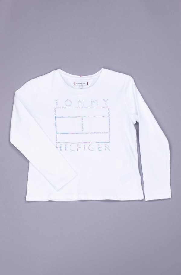 TOMMY FOIL FLAG TEE L/S