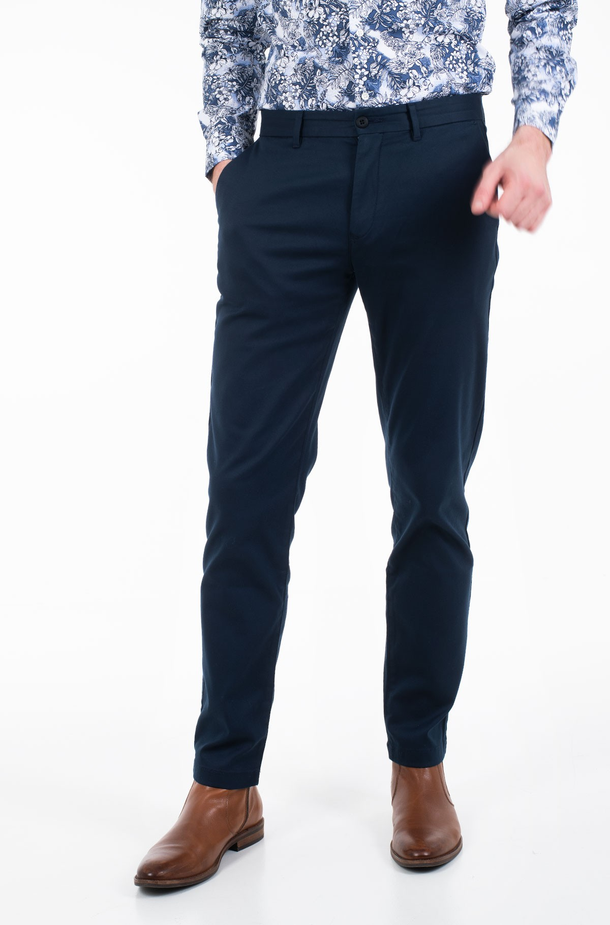 Trousers TAPERED TECH STRETCH TWILL FLEX-full-1