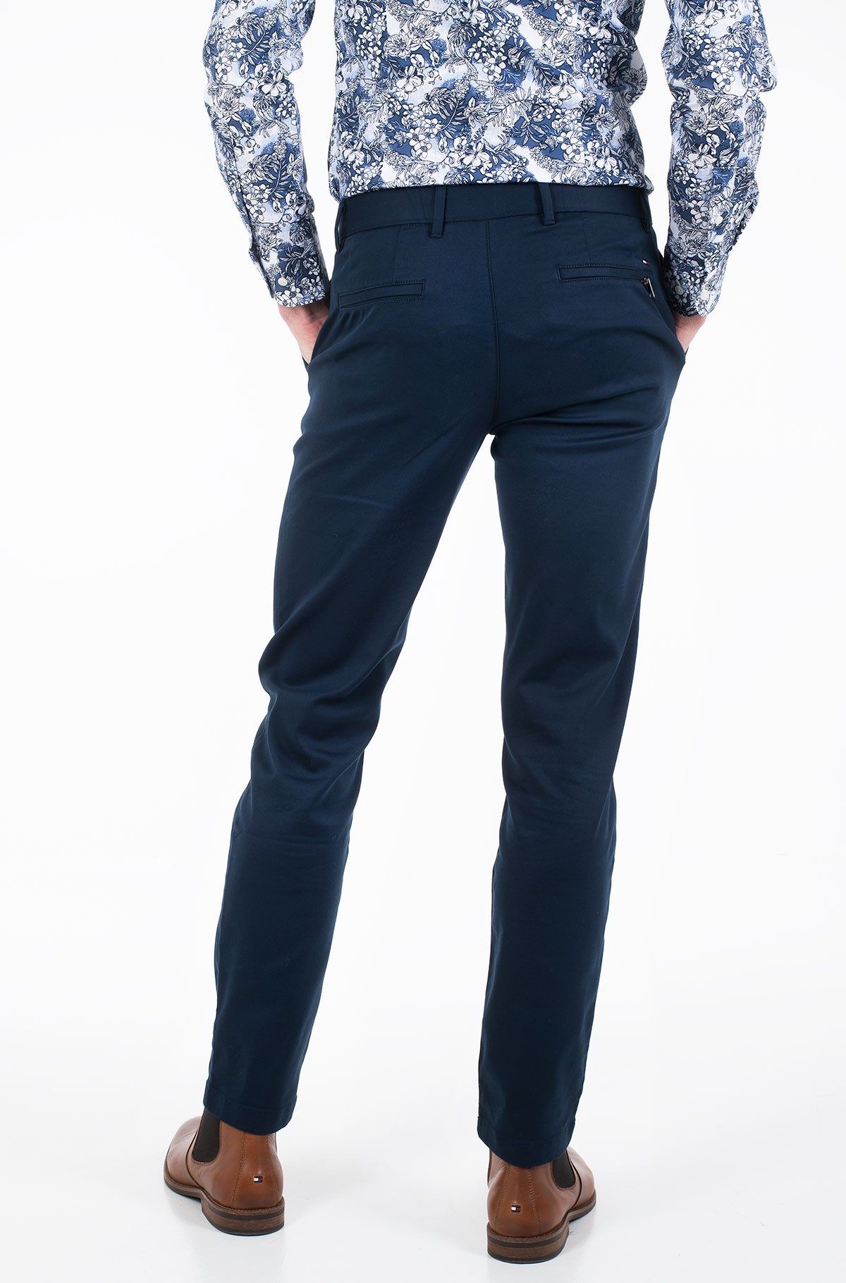 Trousers TAPERED TECH STRETCH TWILL FLEX-full-3