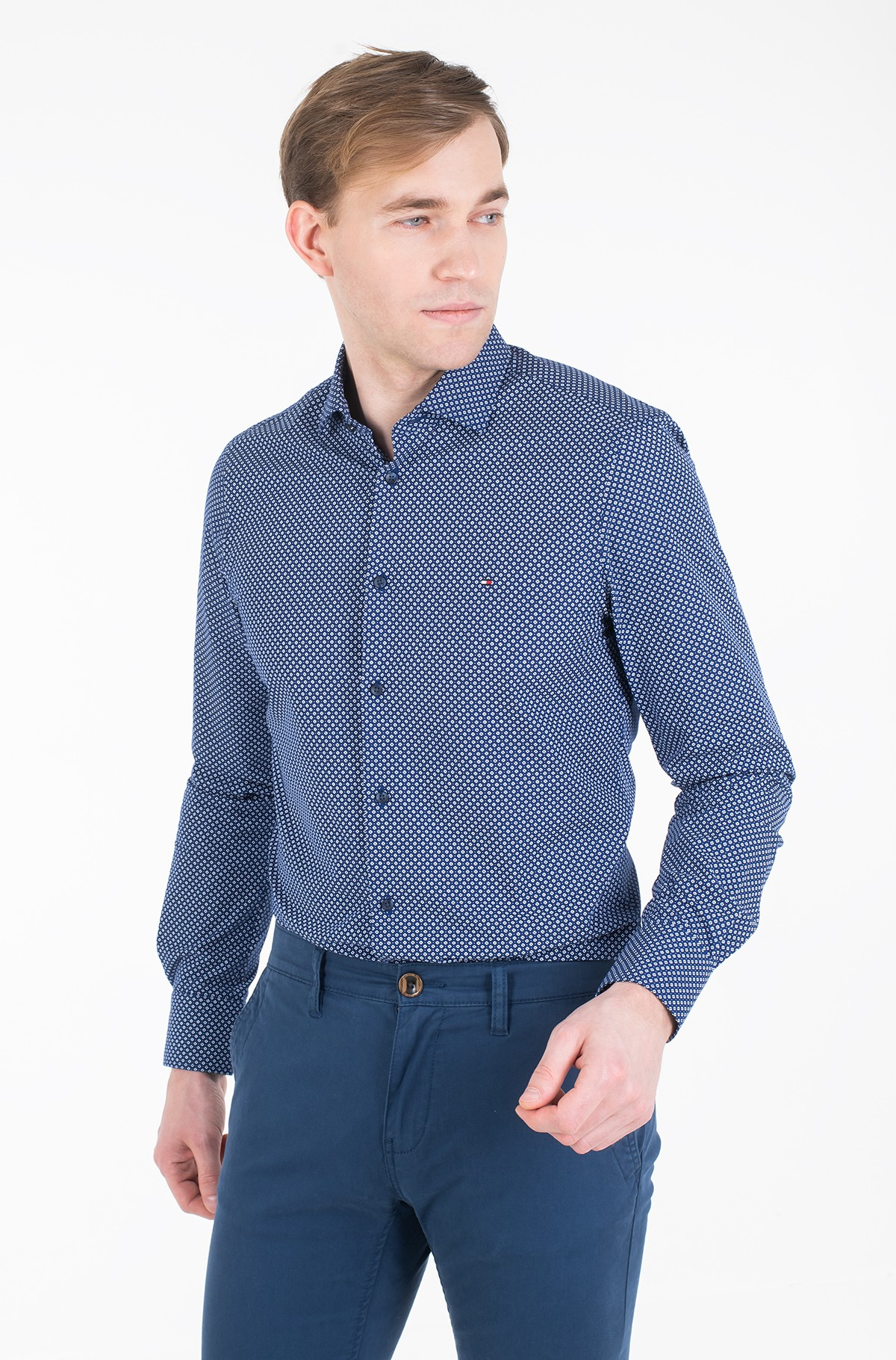 Shirt MICRO PRINT CLASSIC SLIM SHIRT-full-2