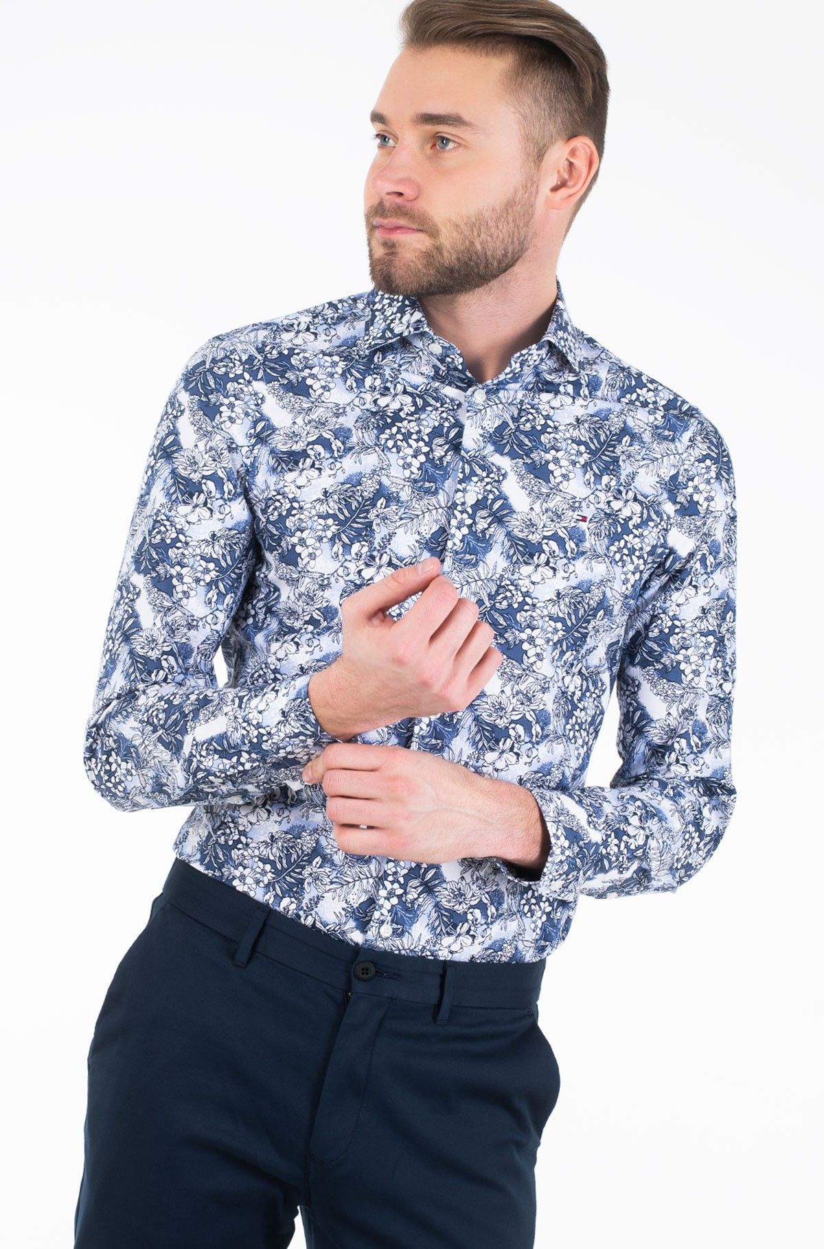 Shirt MACRO FLORAL CLASSIC SLIM SHIRT-full-1