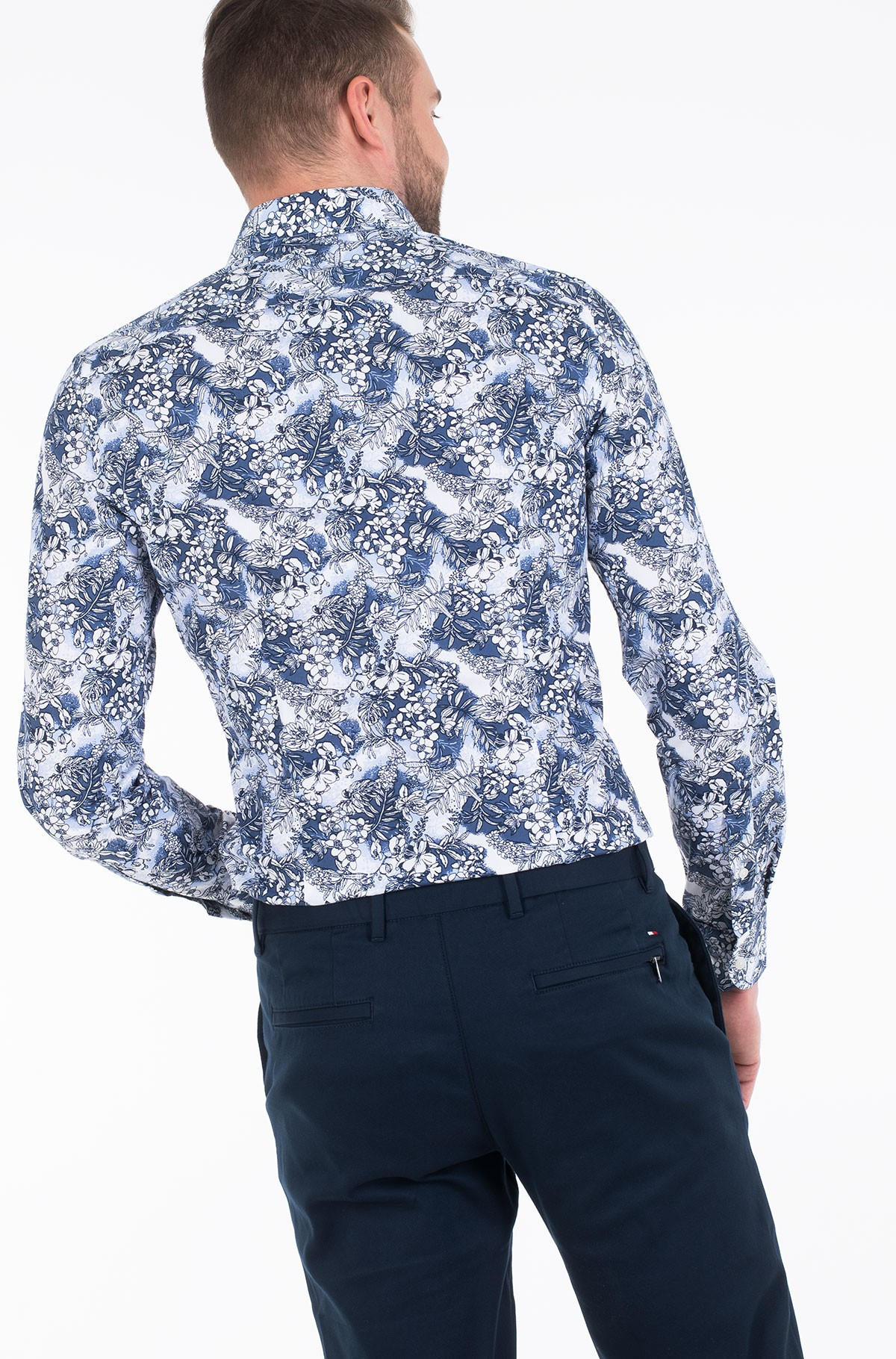 Shirt MACRO FLORAL CLASSIC SLIM SHIRT-full-2