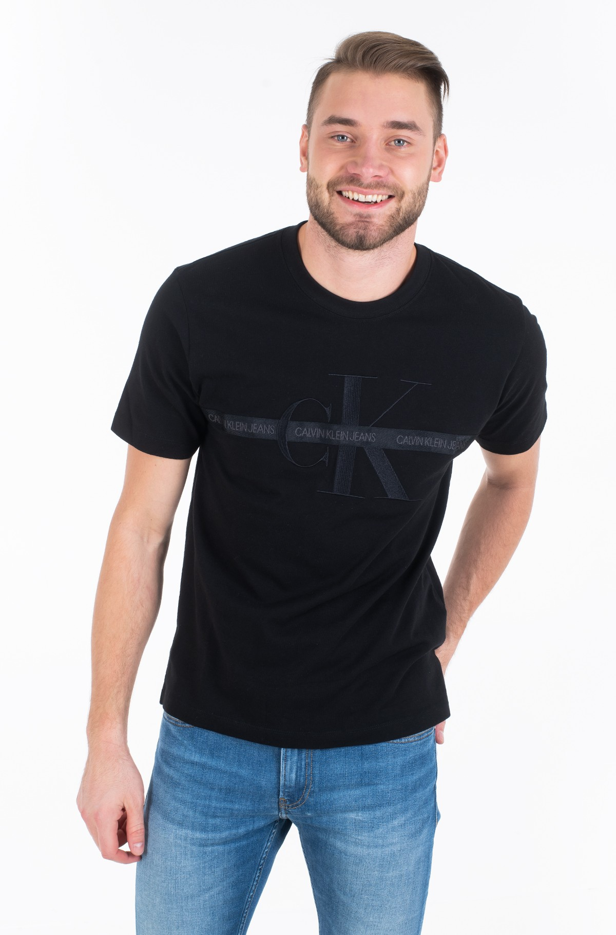 Marškinėliai TAPING THROUGH MONOGRAM REG TEE-full-1
