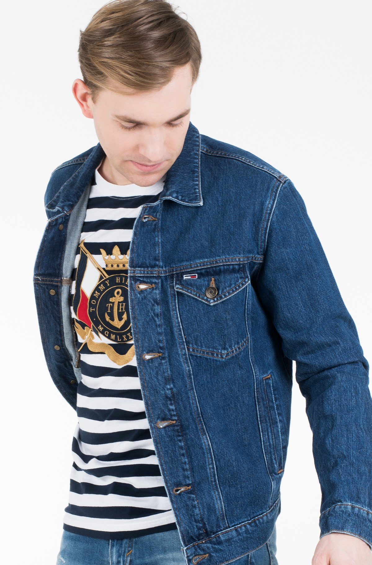 Džinsinis švarkas REGULAR DENIM JACKET ALNM-full-2