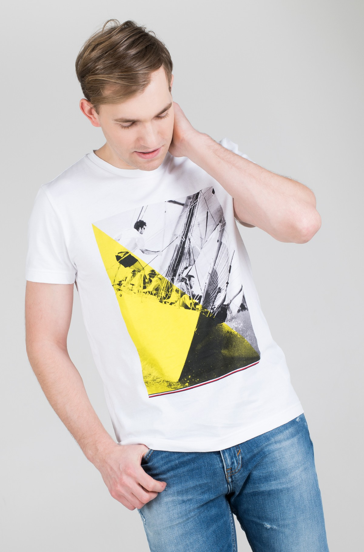 T-särk SAILING PHOTO PRINT TEE-full-1