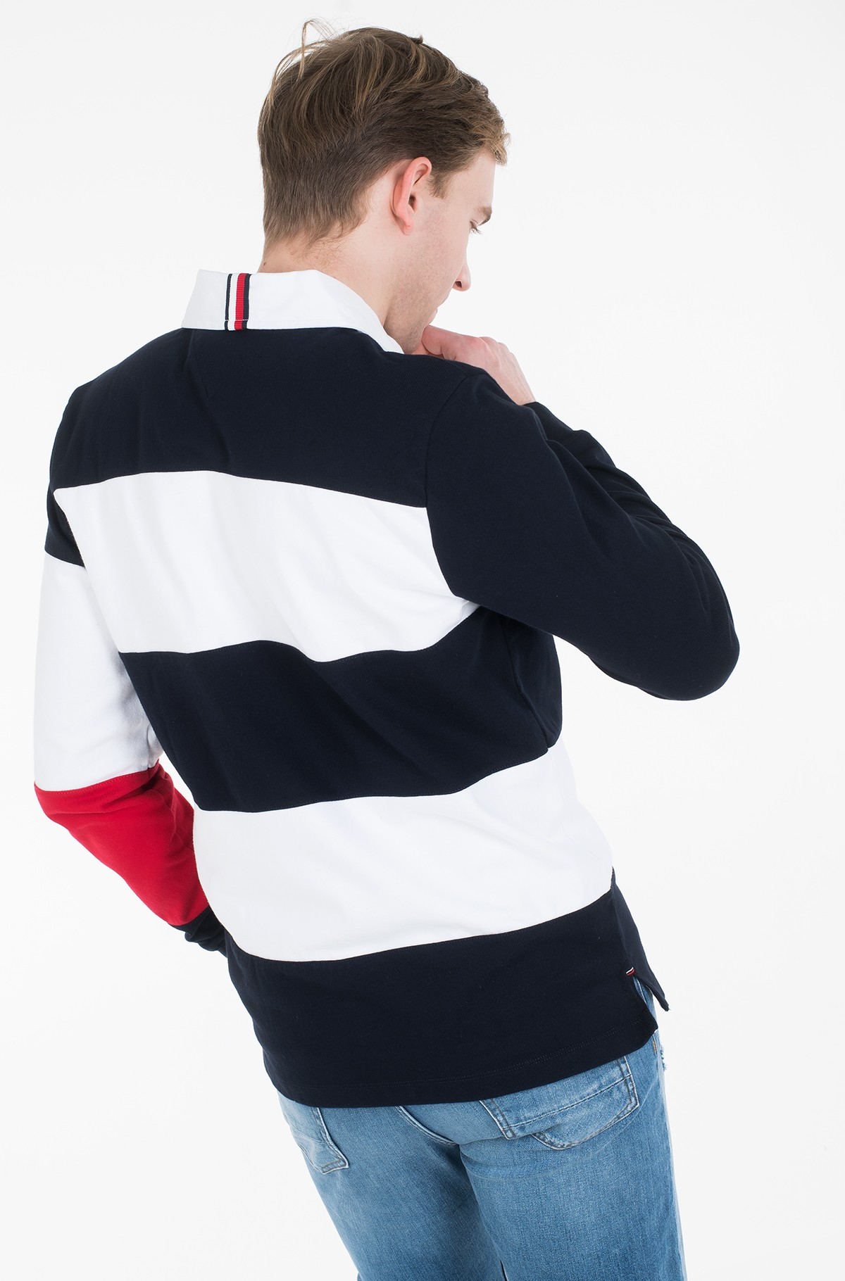 Long sleeved polo BLOCK STRIPE RUGBY-full-3