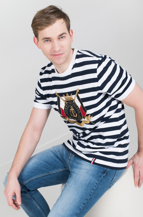 ANCHOR STRIPE RELAXED FIT TEE