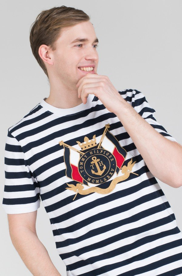 ANCHOR STRIPE RELAXED FIT TEE-hover