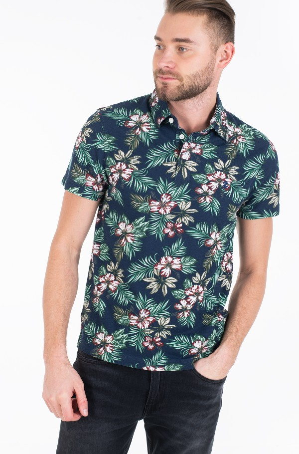 ALLOVER FLOWER PRINT POLO
