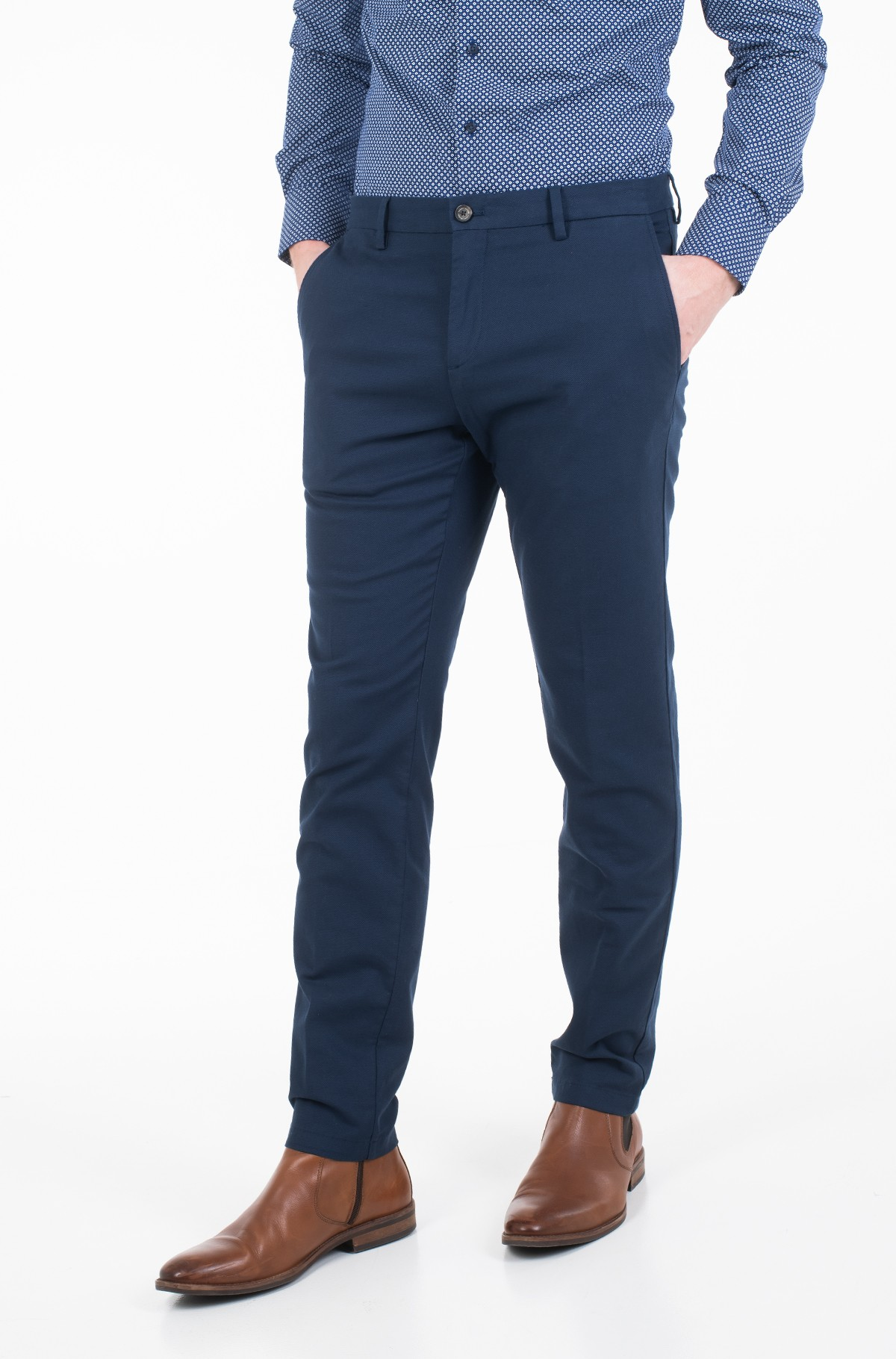Riidest püksid SLIM FIT STRUCTURED FLEX PANT-full-1