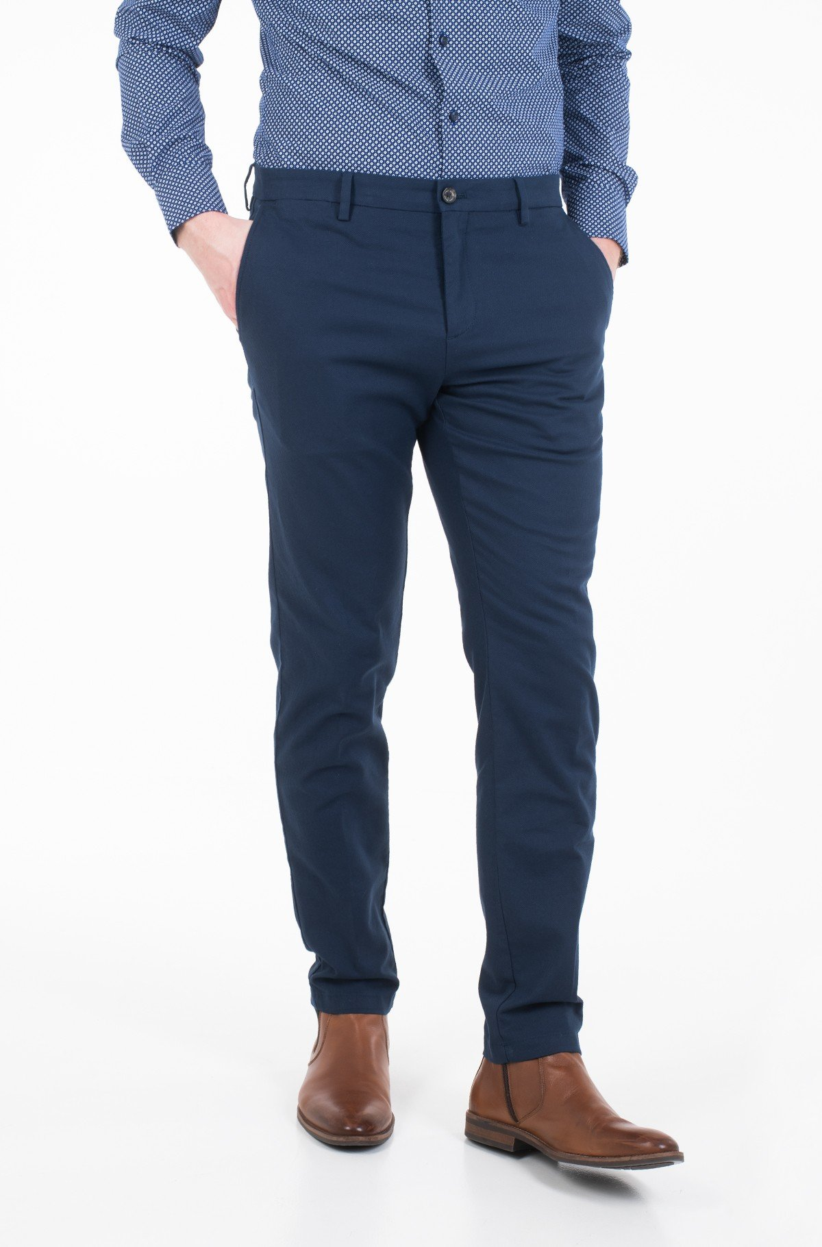 Riidest püksid SLIM FIT STRUCTURED FLEX PANT-full-2