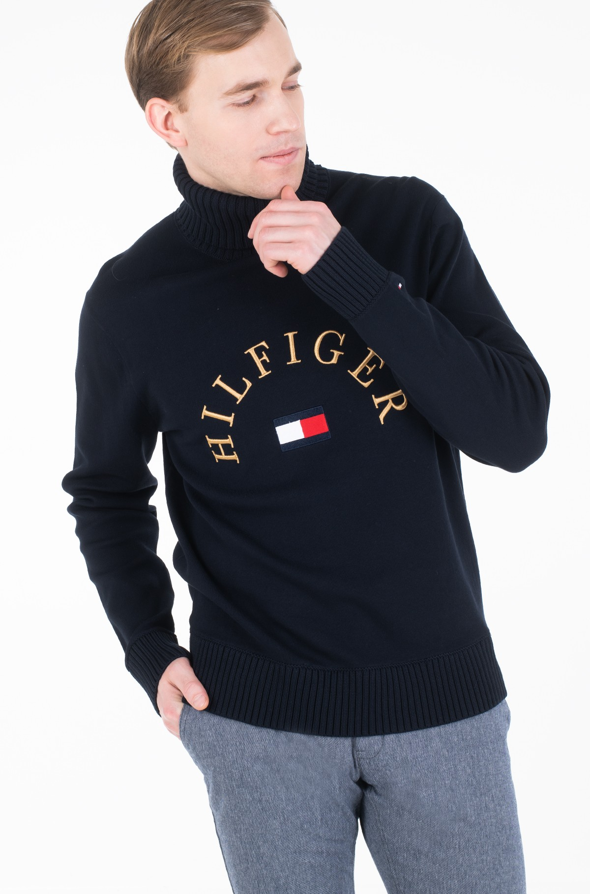 Sweater HILFIGER FLAG ROLL NECK-full-1