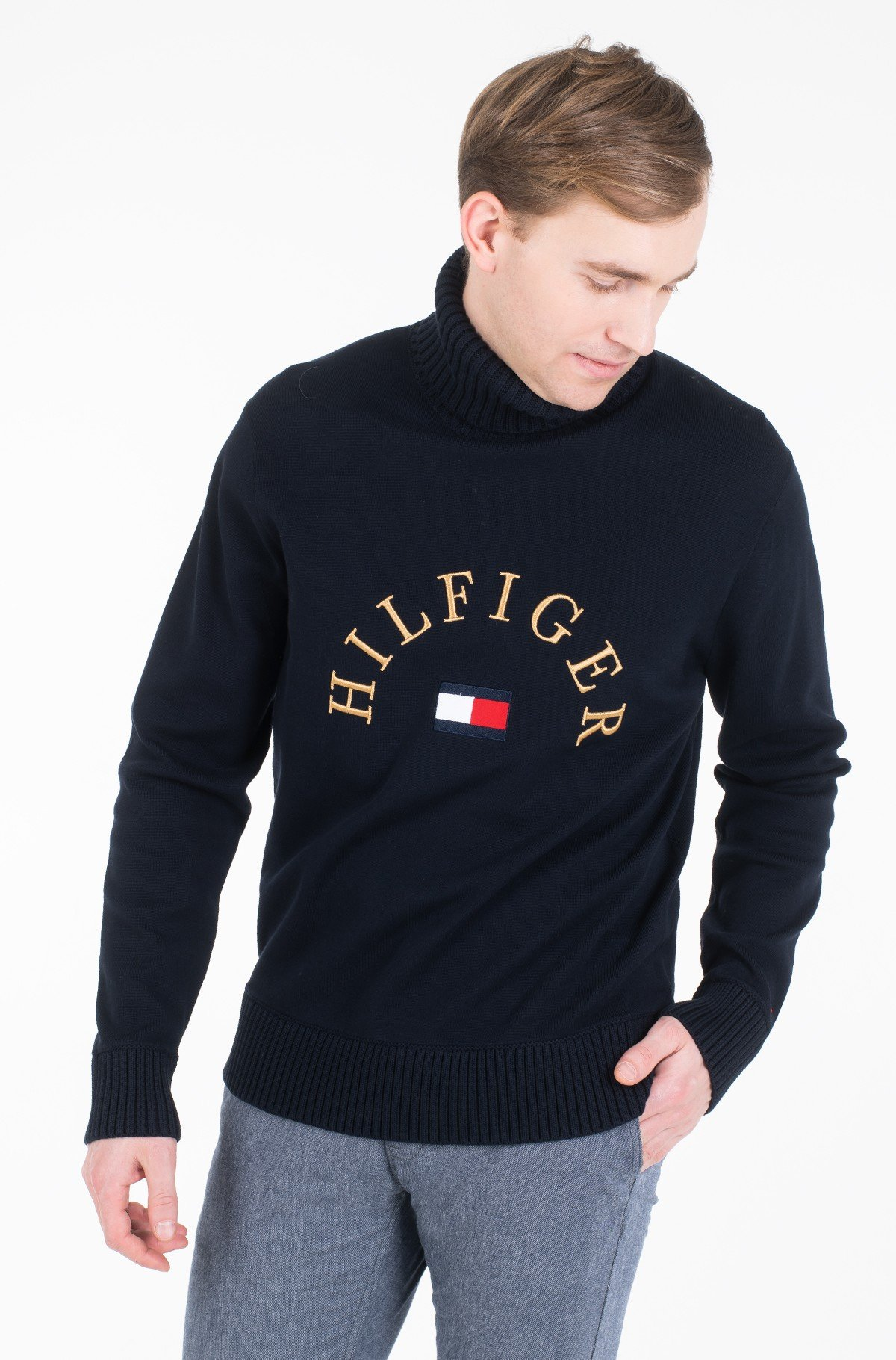 Sweater HILFIGER FLAG ROLL NECK-full-2