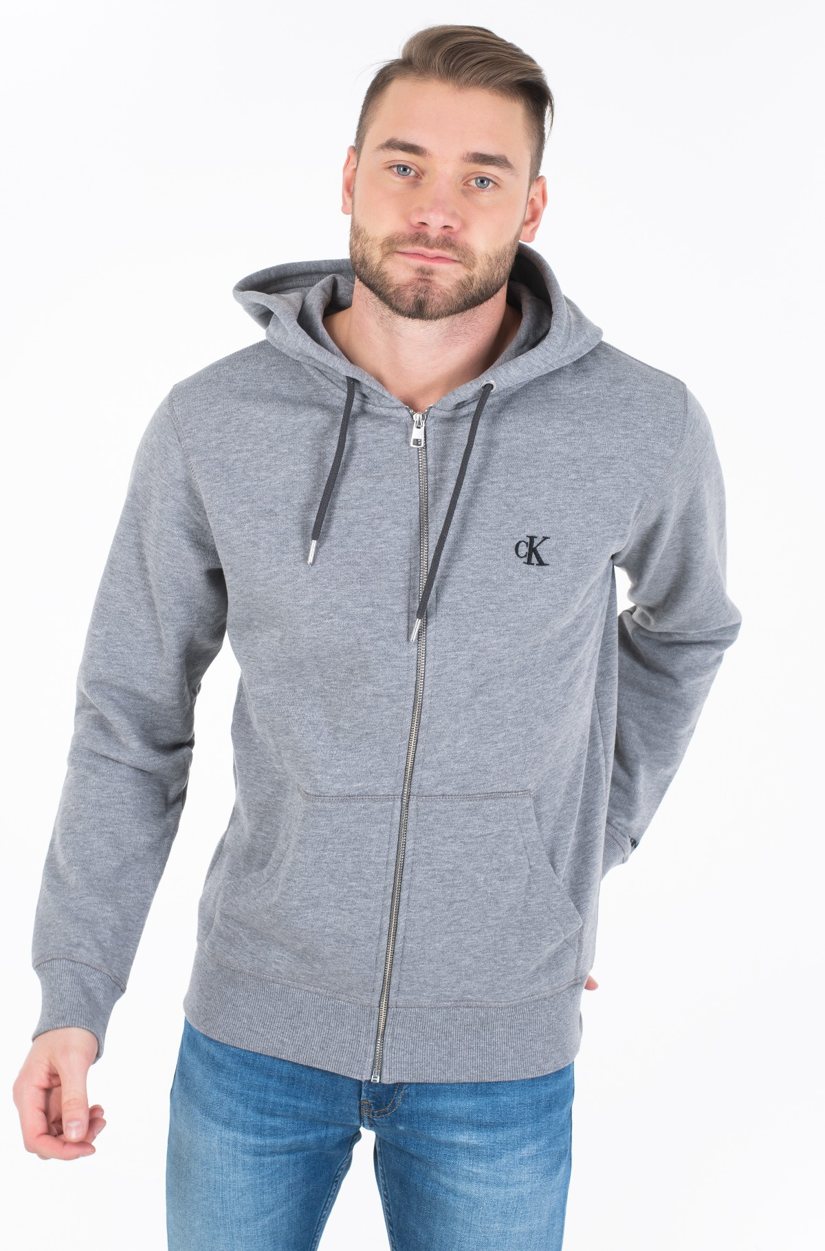 Hoodie CK ESSENTIAL REG ZIP THROUGH-full-1