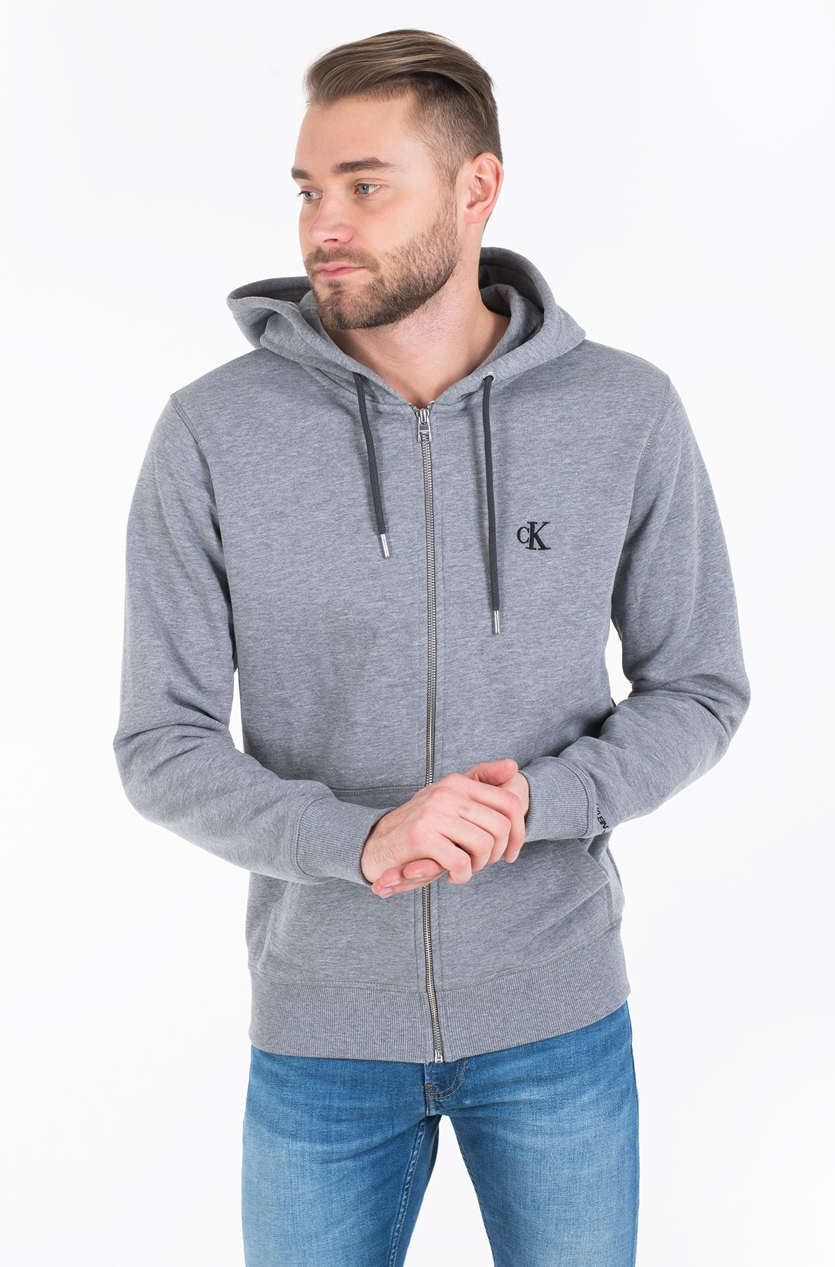 Hoodie CK ESSENTIAL REG ZIP THROUGH-full-2