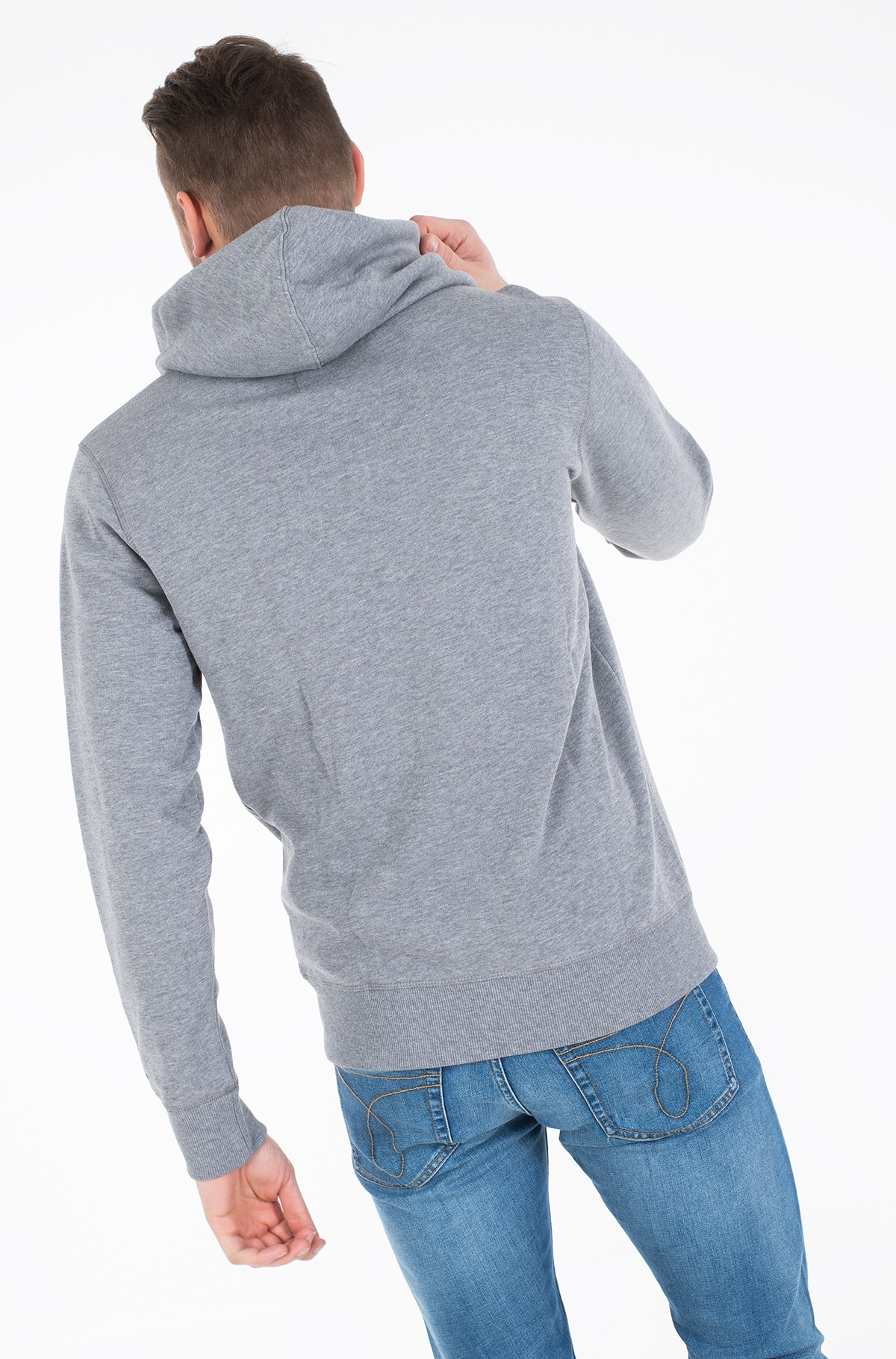 Hoodie CK ESSENTIAL REG ZIP THROUGH-full-3