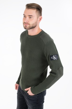 Adījums MONOGRAM SLEEVE BADGE CN SWEATER-1