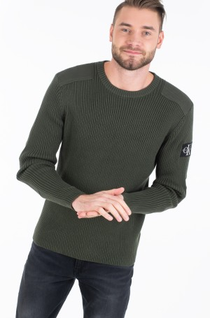 Adījums MONOGRAM SLEEVE BADGE CN SWEATER-2