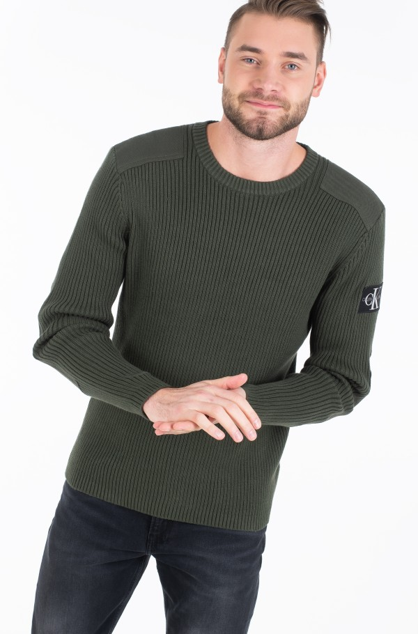 MONOGRAM SLEEVE BADGE CN SWEATER-hover